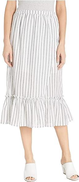 Baja Faux Wrap Midi Skirt