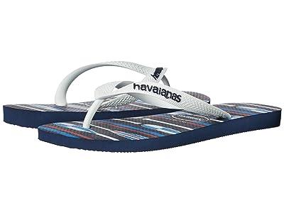 Havaianas Top Nautical Flip-Flops (Navy Blue/White 1) Men