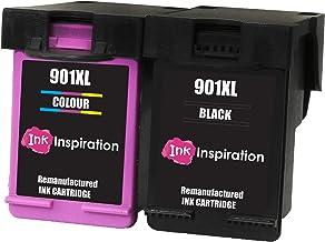 INK INSPIRATION® 2 Cartuchos de Tinta Remanufacturados para HP 901 901XL OfficeJet 4500 G510a G510g G510n J4500 J4524 J4535 J4540 J4550 J4580 J4585 J4600 J4624 J4640 J4660 J4680 J4680c