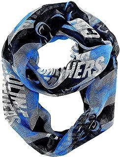 Carolina Panthers Sheer Infinity Scarf Chevron Pattern