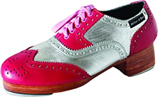 Miller & Ben Tap Shoes; Triple Threat; Pink & Silver (GT) - Royal - Standard Sizes