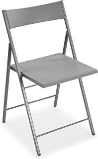 Versa Belfort Silla de comedor, cocina o terraza, Plegable, Medidas (Al x L x An) 93,5 x 48 x 56,5 cm, Plástico y metal, C...