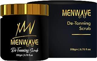 MenWave De-Tanning Face and Body Scrub with Organic Vitamin E,No Parabens, 200 Gram