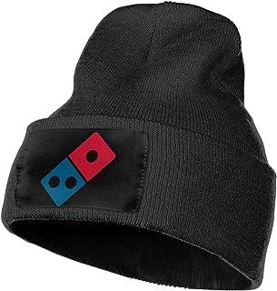 Dominos Pizza Logo Warm Winter Hat Knit Beanie Skull Cap Cuff Beanie Hat Winter Hats for Men & Women