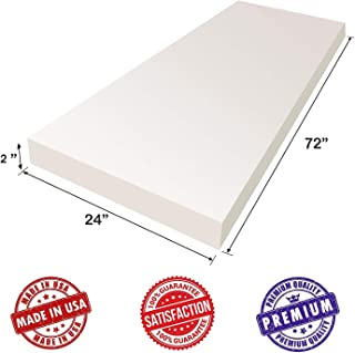 AK Trading Upholstery Foam High Density Cushion Seat Replacement, Foam Sheet, Foam Padding, 2