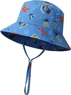 icolor Kids Sun Hat Toddler UV Protection Sun Cap UPF 50+ Bucket Hats Baby Summer Travel Beach Play Cap