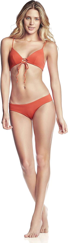 Maaji Women's Standard Spell Reversible Fixed Triangle Bikini Top Swimsuit