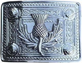 Men's Celtic Kilt Belt Buckle Thistle Antique/Chrome Finish/Kilt Belt Buckles