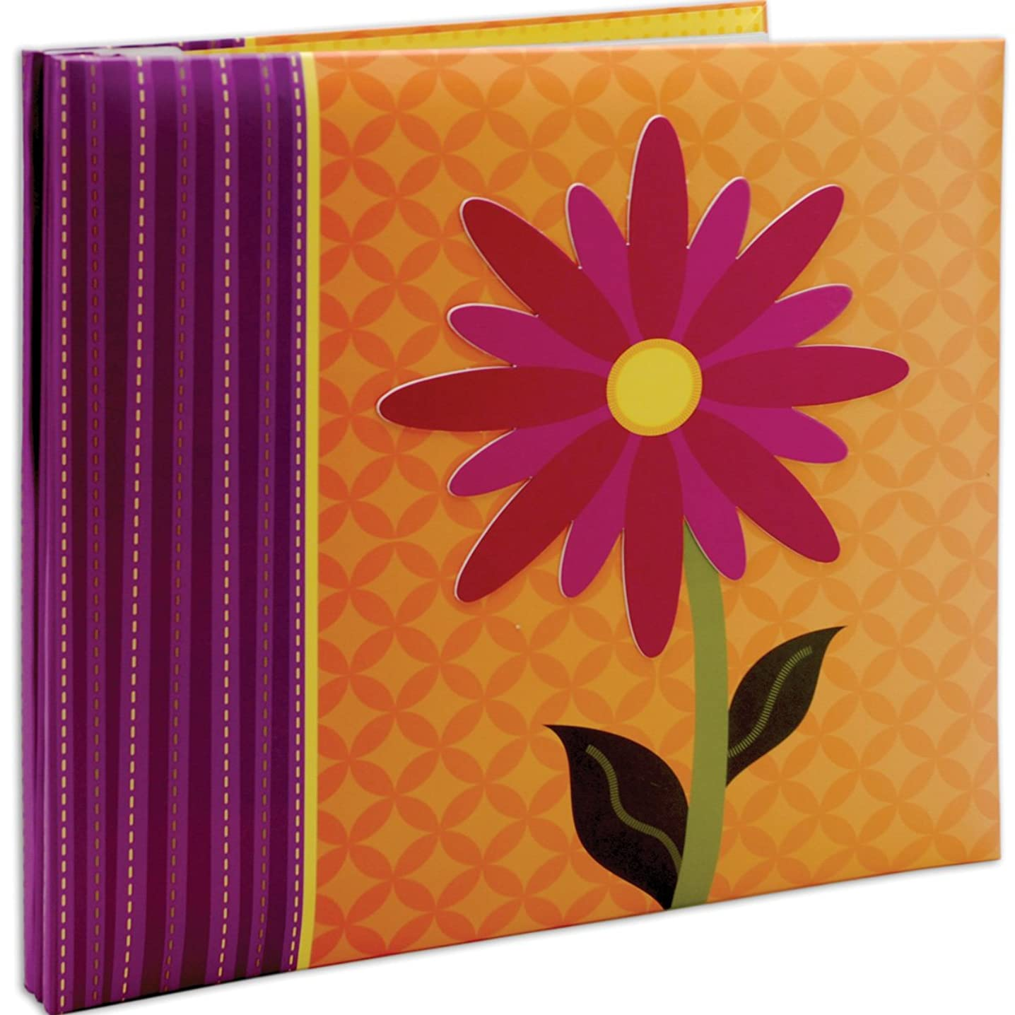 MCS MBI 13.5x12.5 Inch 3-D Character Scrapbook Album with 12x12 Inch Pages, Flower (848135)