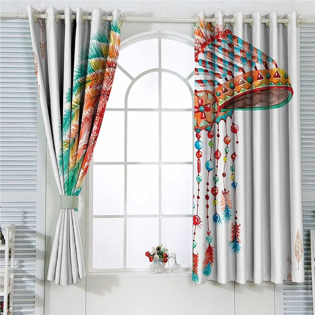 Orange Blue Room Darkening Grommet Wholesale Curtains Long Inch America Special Campaign 84
