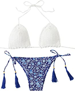 2899b096dcc SweatyRocks Women s Burgundy Plain Wire Free High Leg Triangle Bralette  Bikini