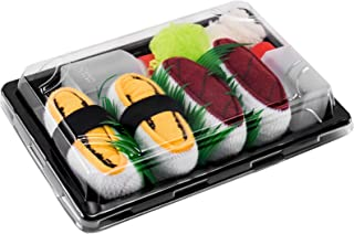 Rainbow Socks, Mujer Hombre Calcetines Sushi Atún Tamago - 2 Pares