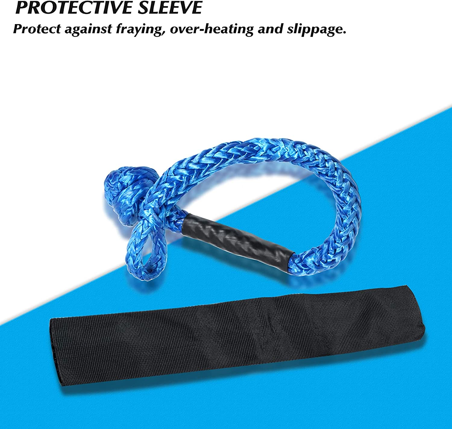 Shackles Snatch Ring Soft Shackle,Recovery Snatch Ring & 1/2 Inch ...