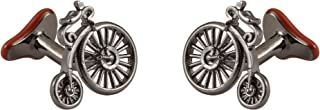 Knighthood Men's Luxurious Vintage Penny Farthing Bicycle Cufflinks Metalic Shirt Cuff Links Business, Wedding Gifts with ...