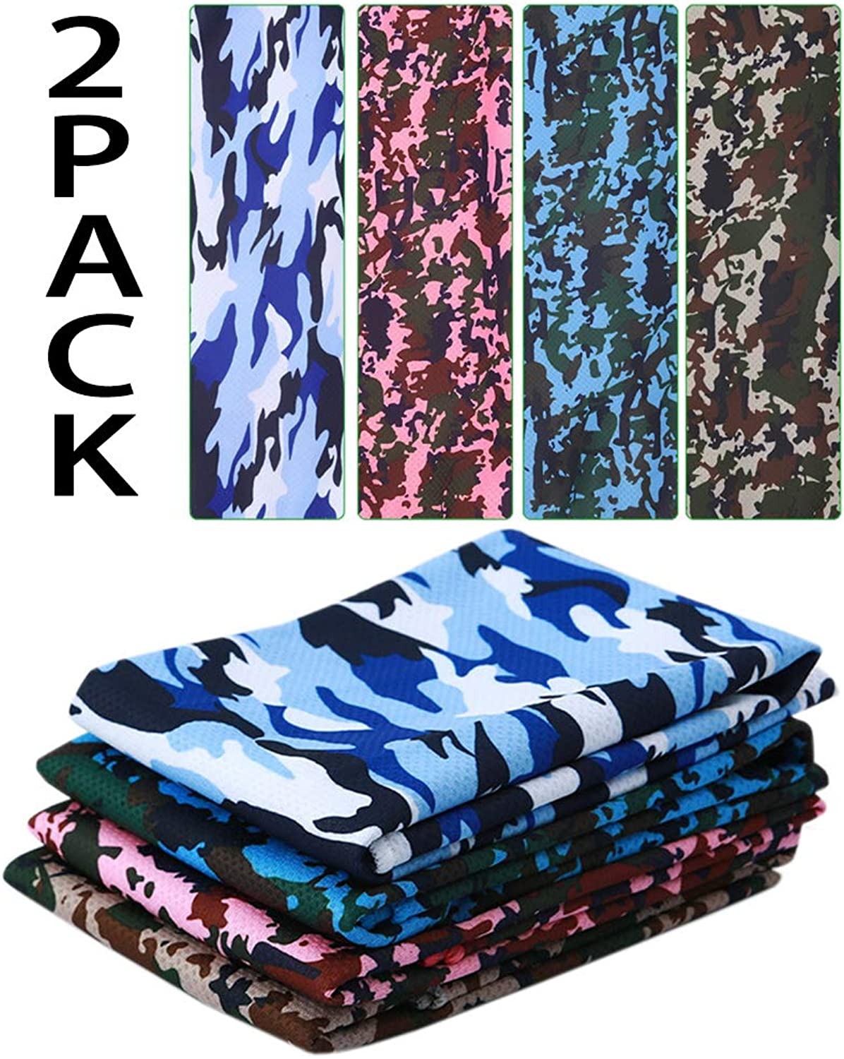 CS&BEAUTY 2 Pack Cooling Towel,40 x12 ,Soft Breathable Stay Cool Microfiber Towel for Yoga, Sport, Running, Gym, Workout,Camping, Fitness, Workout & More Activities