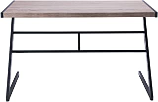 FIVEGIVEN Rustic Computer Writing Desk Industrial Study Table Simple Z Shaped Desk Driftwood 48 Inch