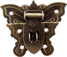 Nologo SSB-JIAOLIAN, 1 Stuk 60 * 51mm Antiek Iron Butterfly Sieraden Box Hangslot Haken Lade Koffer Haspe Latch Sluiting M...