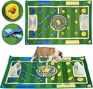 SlowTon Dog Snuffle Mat, Pet Training Pad Non Slip Feeding Nose Work Blanket Puppy Natural Foraging Skills Stress Release ...