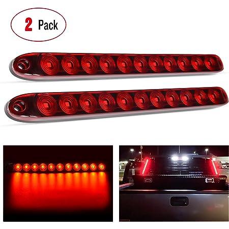 Pack of 2 HEHEMM 27 LED Elbow Side Marker Lights Rubber Indicator Light Outline For Trailer Truck Van Lorry 10-30V