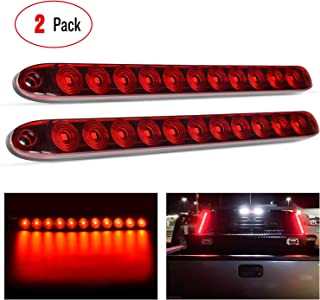 "Nilight TL-10 2PCS 16"" 11 LED Red Park Stop Turn Signals Tail Brake Light DOT Compliant IP65 Waterproof Truck Trailer Mark..."