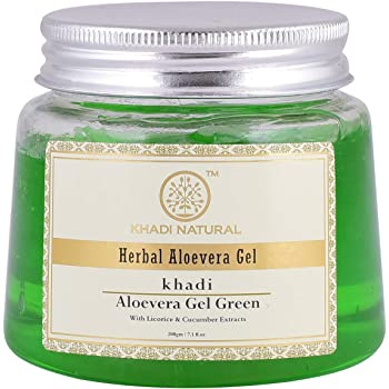Khadi Herbal Aloe Vera Gel, Green, 200g