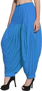 CRAFTSTRIBE Punjabi Patiala Salwar Viscose Lycra Baggy Plain Trouser Free Size Dhoti