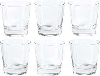Red Co. Old Fashioned Whiskey Glass for Scotch, Bourbon, Rum, and Cocktails, 11.8 Ounce - Set of 6