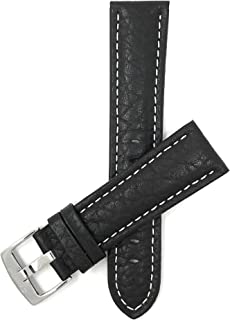 Leather Watch Band Strap - Buffalo Pattern - 3 Colors - 18mm to 30mm (Extra Long XL Available)