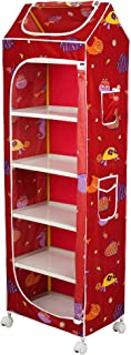 Little One's | 6 Plastic Shelves Foldable Baby Storage Box (Made in India), Unbreakable Material, (Plastic Structure)| Aqu...