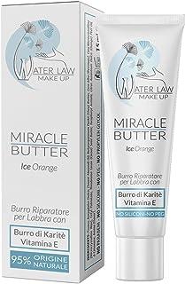 Water Law Make Up - Miracle Butter Ice Orange 15 ml - Trattamento Riparatore per Labbra Arrossate e Screpolate -