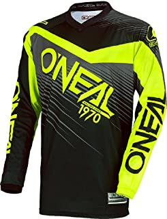 0025s de 60 O Neal Element Ni/ños MX Jersey Shocker Neon Amarillo Motocross Enduro Offroad