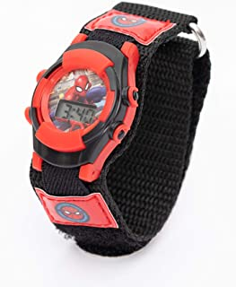 Marvel Spiderman Boys Digital Dial with Woven Strap Wristwatch - TRHA4139