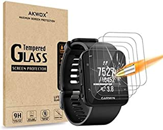 (Pack of 4) Garmin Forerunner 35 Screen Protector, Akwox [0.3mm 2.5D High Definition 9H] [Anti-Bubble] Tempered Glass Scre...