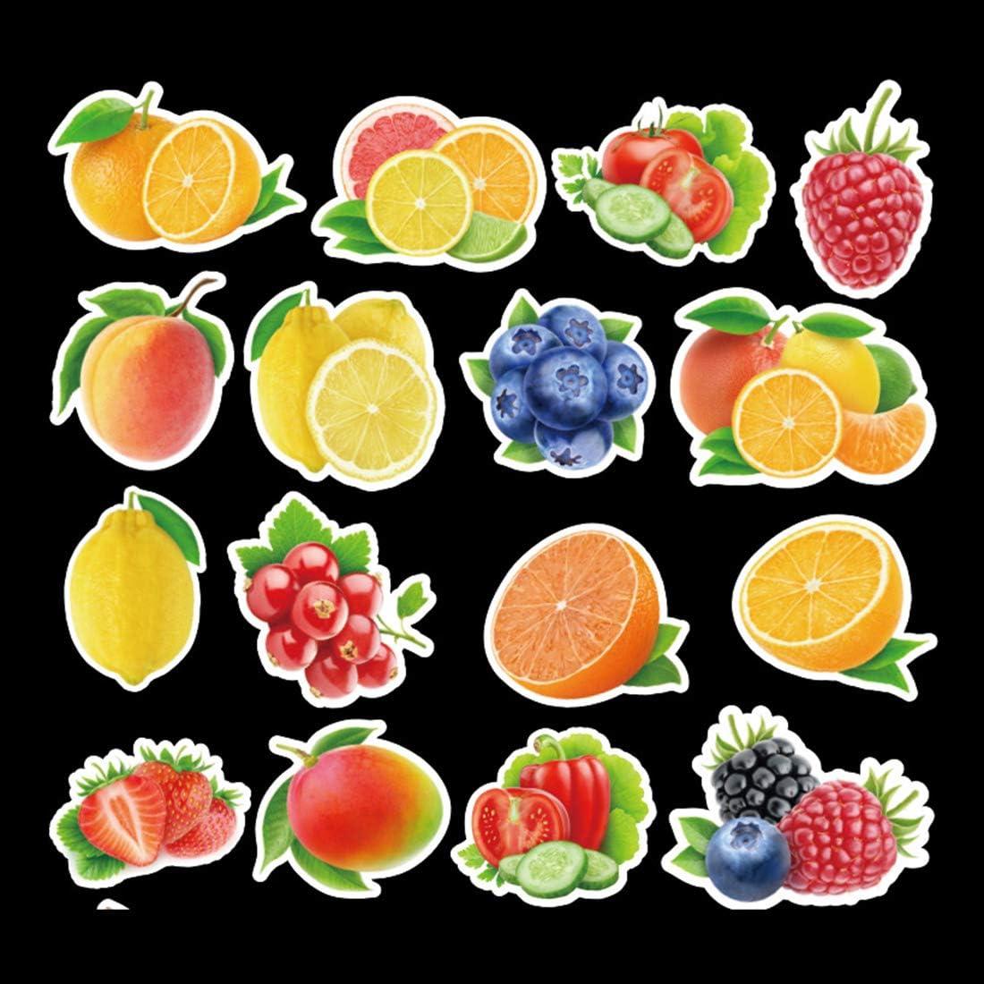 100Pcs Fruits Vegetables Waterproof Stickers for Water Bottle Cup Laptop Bike Skateboard Luggage Box Vinyl Graffiti Patches BRJKT