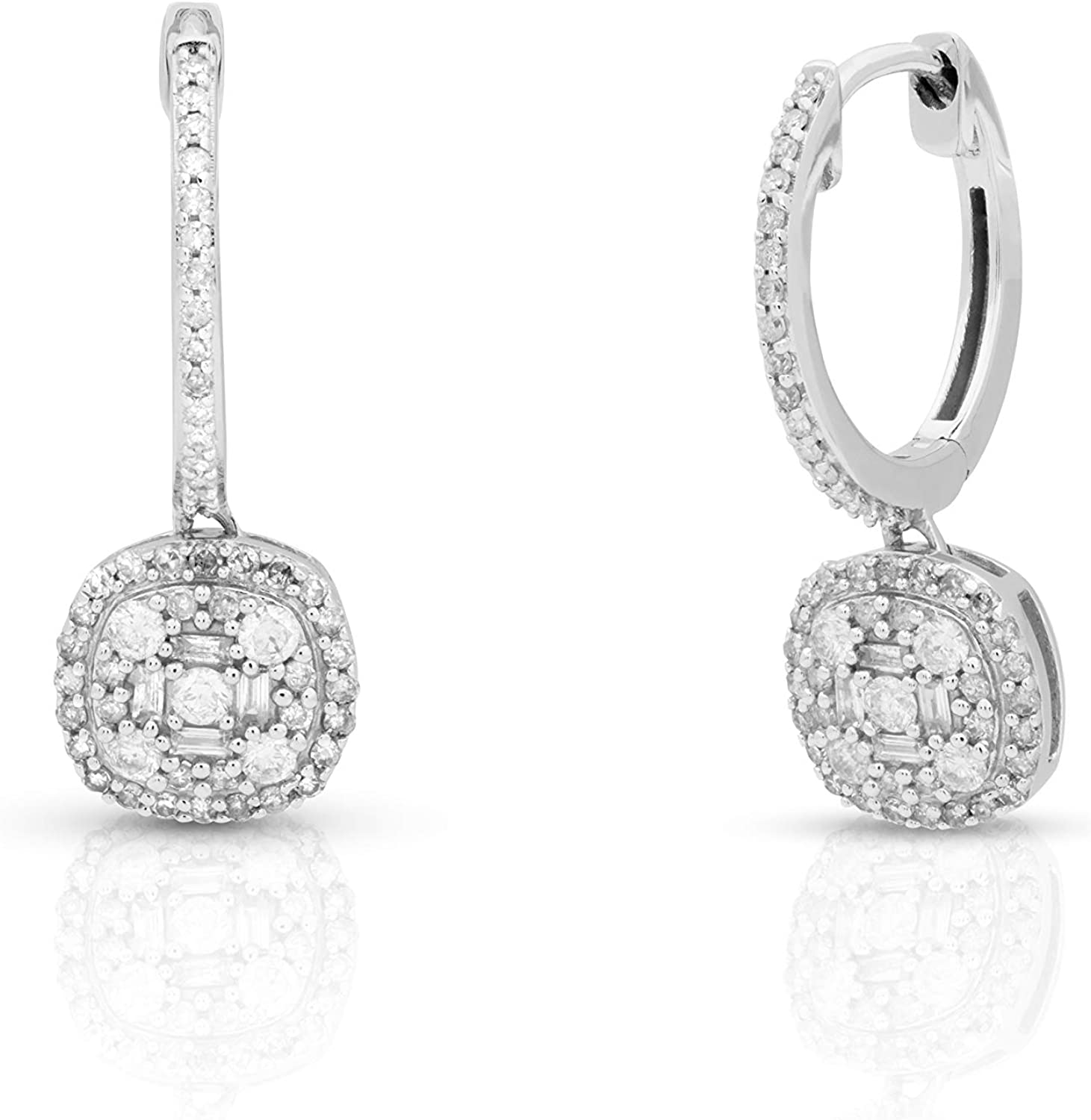 Femme Luxe 0.50 Today's only New Shipping Free Shipping cttw Diamond Drop White for 14K Women Earrings