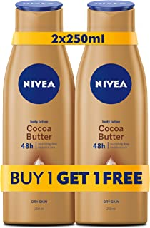 NIVEA, Body Care, Body Lotion, Cocoa Butter, Dry Skin, 2 X 250 ml