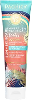 Pacifica Beauty Sun + Skincare Mineral  SPF 50 Bronzing Body Butter Coconut, 5 Fluid Ounce