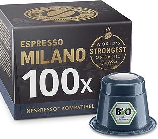 Espresso Milano: 100 Bio Nespresso kompatible Kapseln. Kaffeekapseln Testsieger