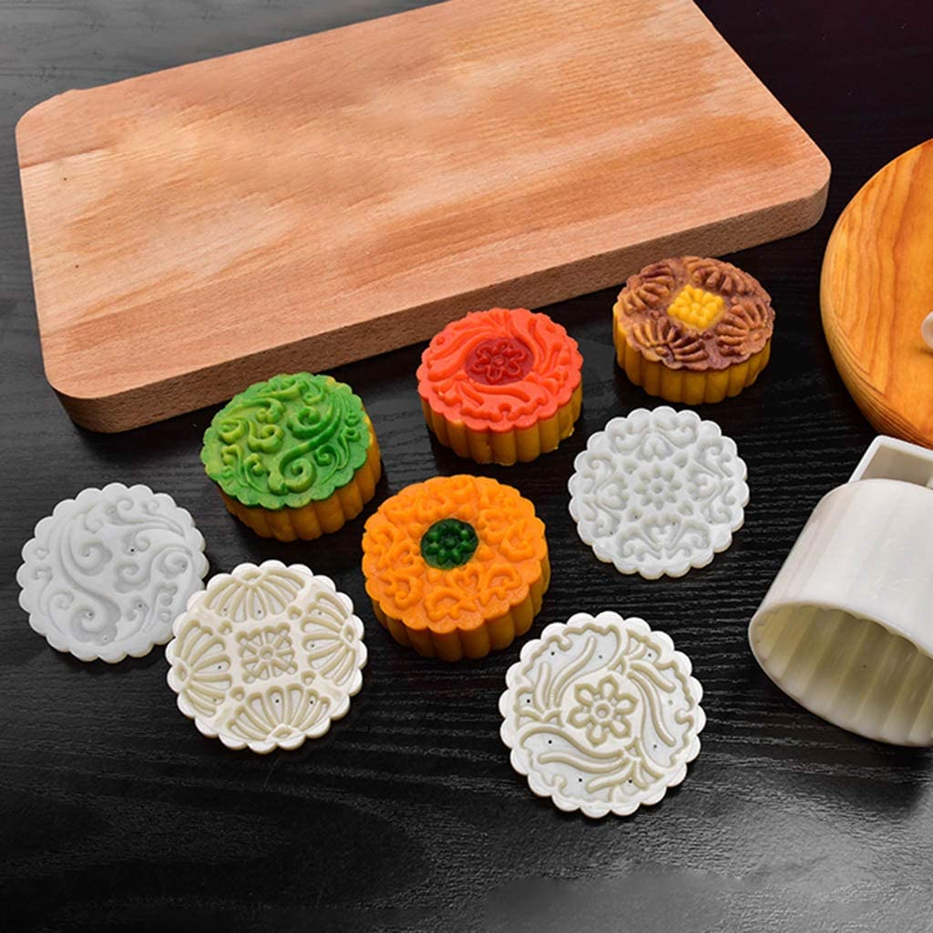 Bl/ütenbl/ätter Kuchenform quadratisch K/üchenutensilien 75 g orientalisch Manyao Backform Kekspresse Moon Cake Press orientalisches Geb/äck