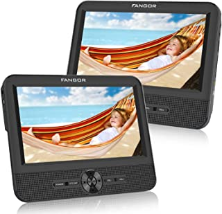 FANGOR 7.5'' Dual Car DVD Player, Headrest Video CD Player with Two Screens, Supported USB/SD/MMC Card Readers, Last Memor...