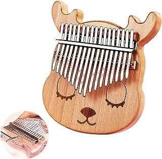 DYJD Kalimba Instrument De Musique, 17 Touches Thumb Piano Mignon Cerfs Forme Accueil Cadeau d'anniversaire, Pouce Piano a...
