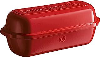 Emile Henry 349503 - Molde para pan rústico fabricado en cerámica, Rojo (Grand Cru), 39 x 16,5 x 15 cm