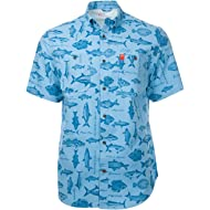 BBQ Print Guide Shirts for Men with UPF 50 Sun Protection