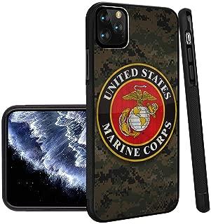 US Marine Corps iPhone 11 Pro Max Phone Case Black TPU Protective case Shockproof Non-Slip Soft Designed US Marine Corps case for iPhone 11 Pro Max