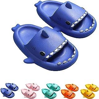 Sandalias antideslizantes de tiburón para niños y niñas zapatillas de baño de ducha EVA zapatos de tiburón de dibujos anim...