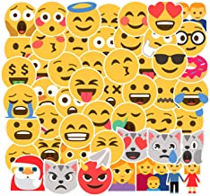 19PCS Smiley Face Expression Stickers Water Bottle Skateboard Motorcycle Phone Bicycle Luggage Guitar Bike Sticker Decal (Smiley Face Expression