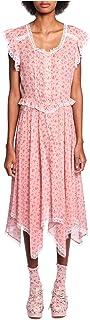 Anna Sui Women'S Blush Rosebuds Cotton Handkerchief Hem Dress