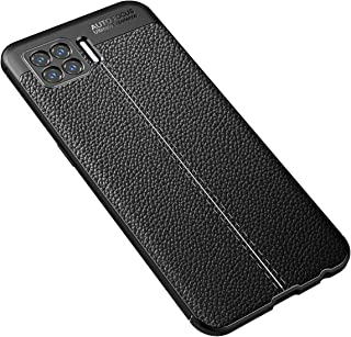 zl one Compatible with/Replacement for phone case OPPO F17 Back Cover Ultra-Thin TPU Bumper (Black)