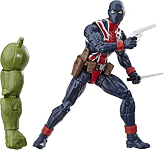 "Marvel Legends Series Union Jack 6"" Collectible Action Figure Toy For Ages 6 & Up with Accessories & Build-A-Figurepiece"