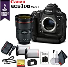 Canon EOS-1DX Mark II DSLR Camera (Body Only) with 2 Year Extended Warranty (International Model) - Extra Battery Kit